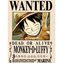 One Piece (Коллекция постеров №3) - Wanted | Ван-Пис: Луффи