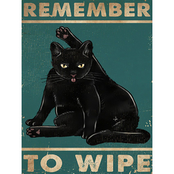 Cat: Remember to wipe | Кот