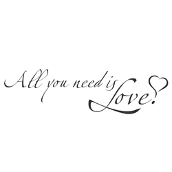Motivation | Надпись: All you need is love