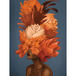 Girl with flowers | Девушка с цветами
