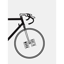 Scandinavian poster | Скандинавский постер: Bike to work