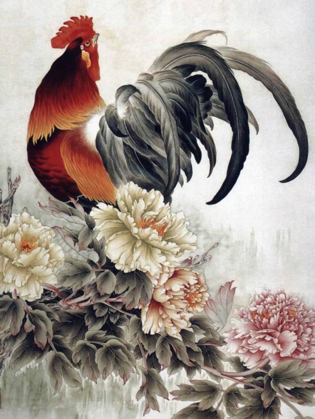 Chinese painting | Китайская живопись - Петух