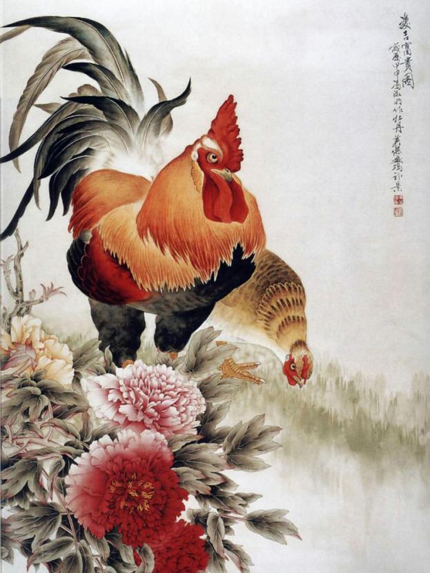Chinese painting   Китайская живопись - Петух