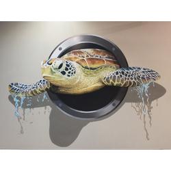 3D Poster | 3Д Постер | Черепаха