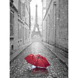 Red umbrella in Paris | Красный зонт в Париже