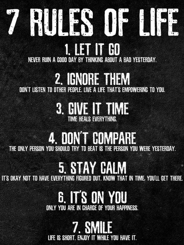 Rules of life | Правила жизни