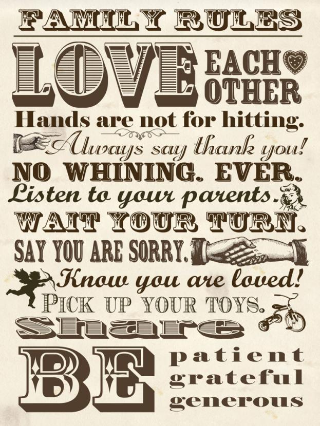 Family rules | Правила семьи