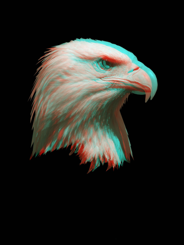 3D Poster | 3Д Постер | Орел