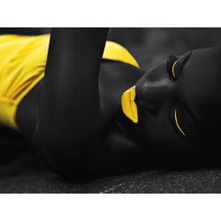 Girl black-yellow | Девушка