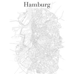 Map Hamburg | Карта Гамбурга
