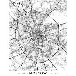 Map Moscow | Карта Москвы