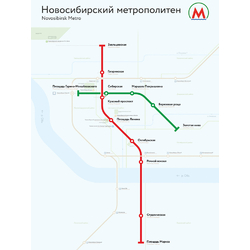 Metropolitan | Схема Метро Новосибирск