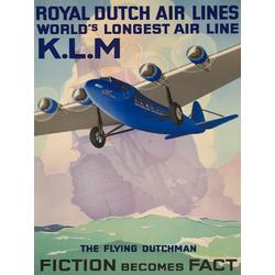 Plane | Royal dutch air lines World's longest air line K.L.M.