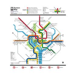 Metropolitan | Схема Метро Вашингтон