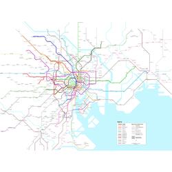 Metropolitan | Схема Метро Токио