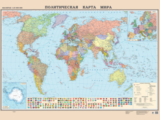 Категория постеров и плакатов Политическая карта