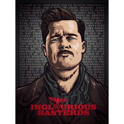 Inglourious Basterds - Aldo Raine  (Коллекция постеров №2) | Бесславные ублюдки