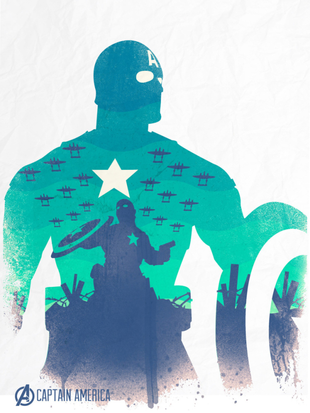 Avengers Collection (Коллекция постеров) 2: Captain America   Капитан Америка