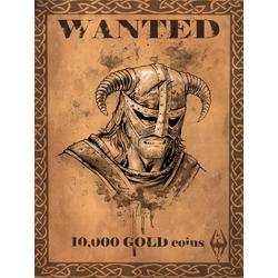 Skyrim: Dovahkiin Wanted Poster | Скайрим