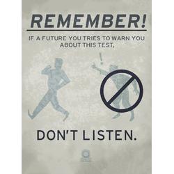 Portal 2 - Remember! (Коллекция постеров №1)
