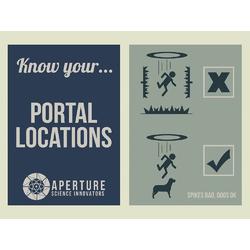 Portal 2 - Know Your Portal Locations (Коллекция постеров №1)