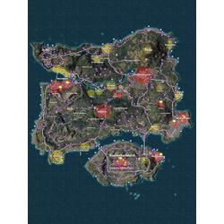 PlayerUnknown's Battlegrounds - Игровая карта