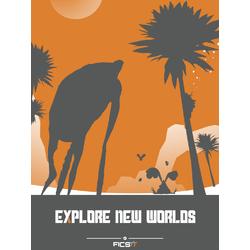 Satisfactory - Explore New Worlds (Коллекция постеров №1)