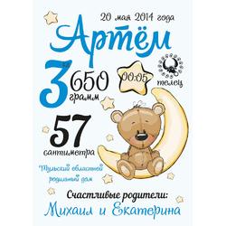 Постер-метрика для мальчика №7