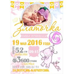 Постер-метрика для девочки №11 (с фотографией)