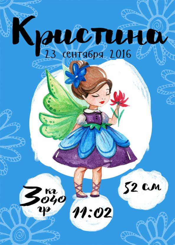 Постер-метрика для девочки №13