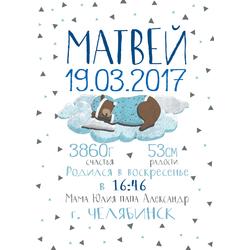 Постер-метрика для мальчика №12