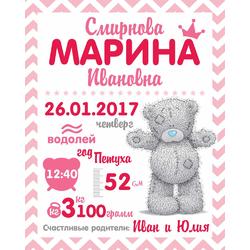 Постер-метрика для девочки №14