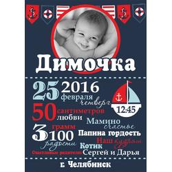 Постер-метрика для мальчика №13 (с фотографией)
