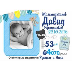 Постер-метрика для мальчика №14 (с фотографией)