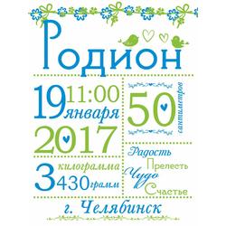 Постер-метрика для мальчика №15