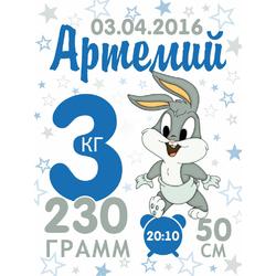 Постер-метрика для мальчика №20