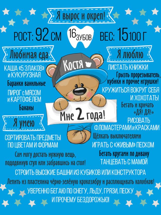 Постер достижений для мальчика №7