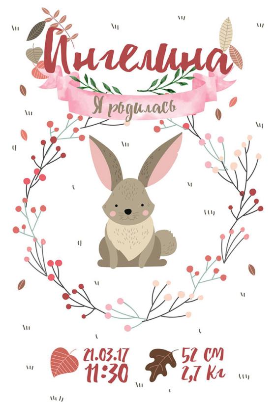 Постер-метрика для девочки №2