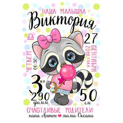 Постер-метрика для девочки №24