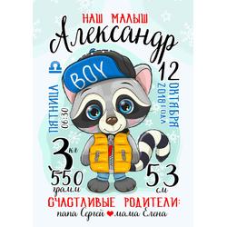 Постер-метрика для мальчика №31
