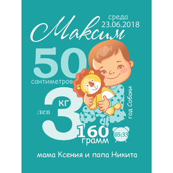 Постер-метрика для мальчика №25