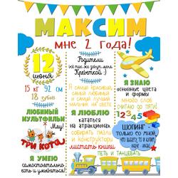 Постер достижений для мальчика №3