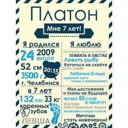 Постер достижений для мальчика №4