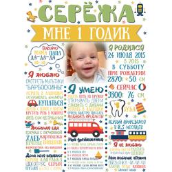 Постер достижений для мальчика №6 (с фотографией)