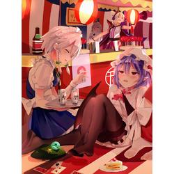 Anime girls (Модульные постеры) - 1 | Аниме девушки