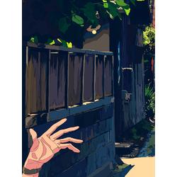 Anime street (Модульные постеры) - 2 | Аниме улица