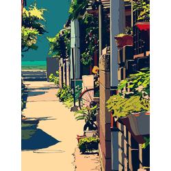 Anime street (Модульные постеры) - 3 | Аниме улица