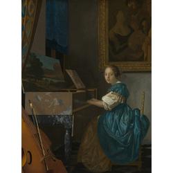 Jan Vermeer   Ян Вермеер - Дама, сидящая за вирджиналем