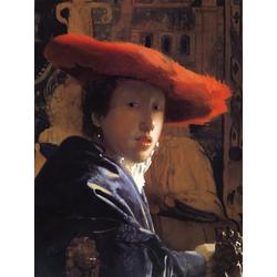 Jan Vermeer   Ян Вермеер - Женщина в красной шляпе