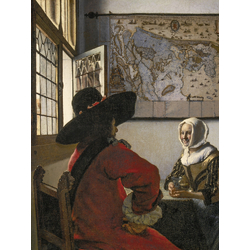 Jan Vermeer   Ян Вермеер - Офицер и смеющаяся девушка